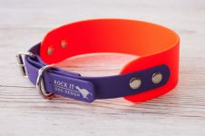 "BioThane® Sighthound Collar 1.5"" or 2"" wide- choose your own colours"